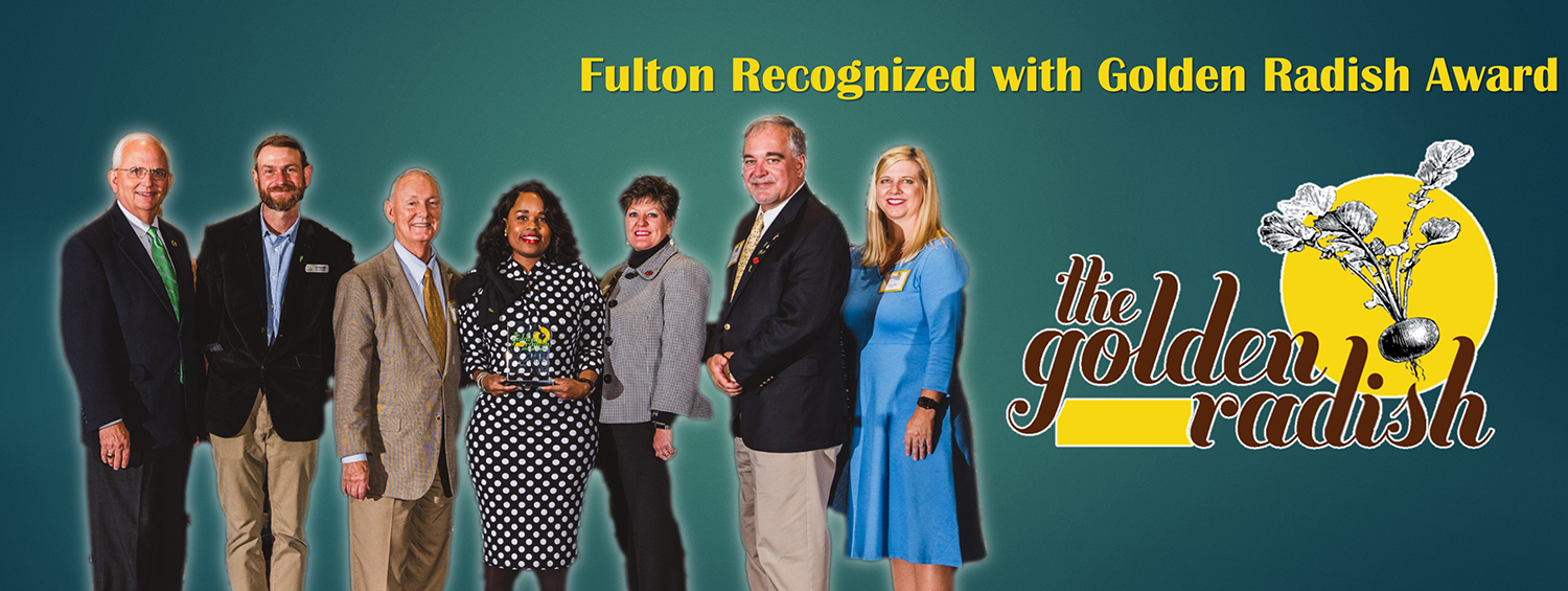 Fulton Recognized with Golden Radish Award