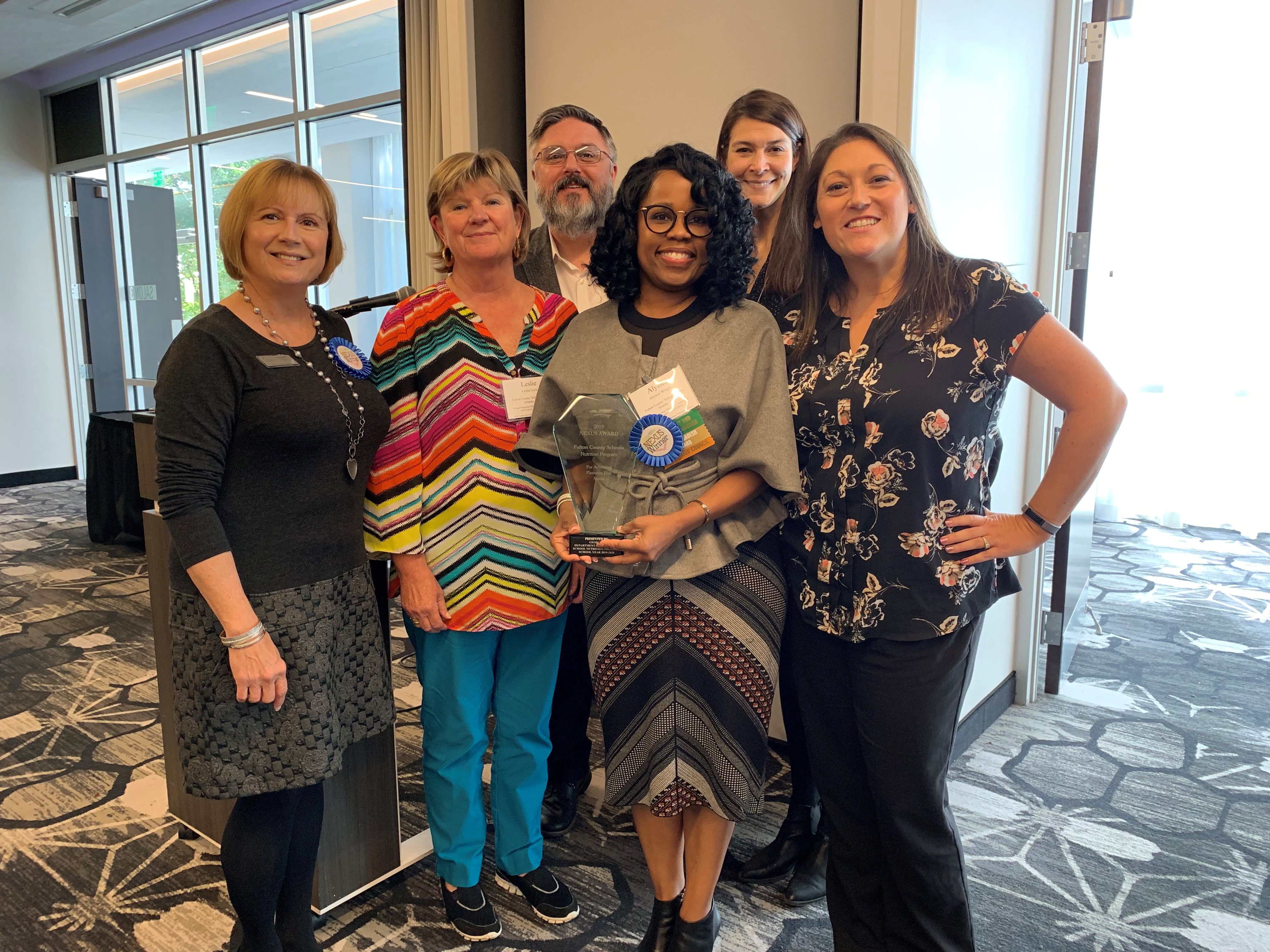Fulton County School Nutrition 2019 Nexus Award, Super System by Georgia Department of Education School NutritionAssociation Wellness Award